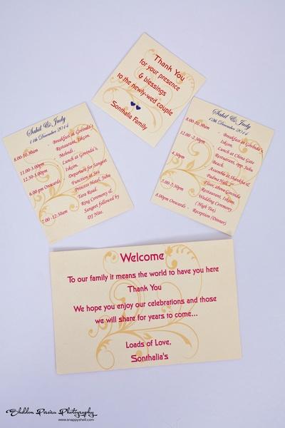 Wedding thank you note ideas
