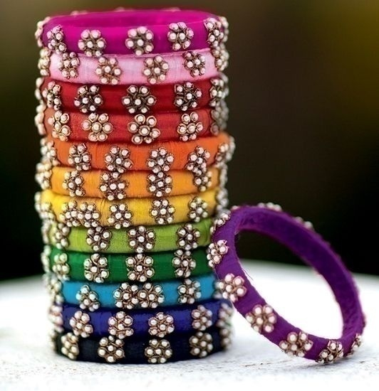 Rainbow Themed Wedding Bridal looks