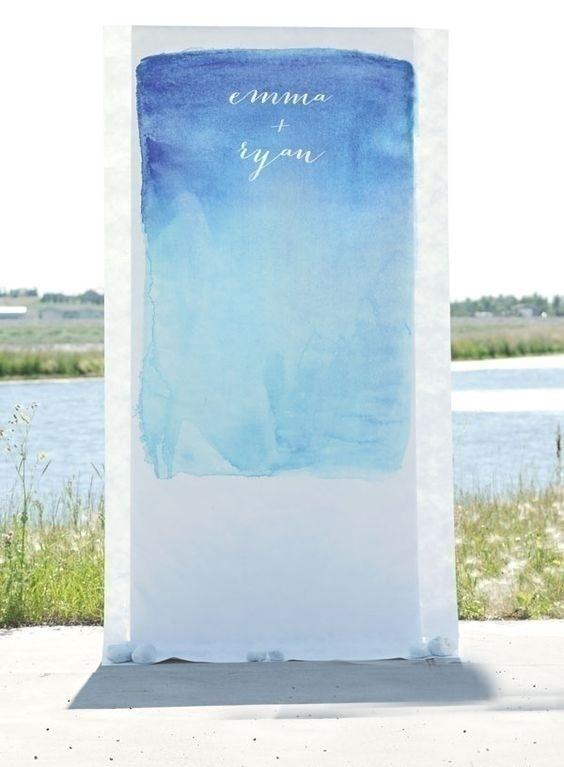 Watercolor Wedding Photo Booth