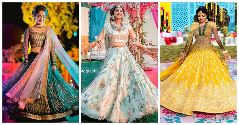 10 Brides who stole the limelight with their oh-so-pretty mehndi lehengas!