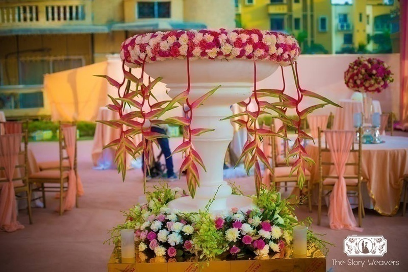 Mehndi Decoration Inspo - A Mehndi Ceremony held in the Garden of a Housing Society!
