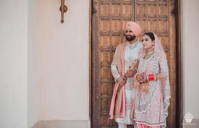 Post wedding photoshoot of the happy couple