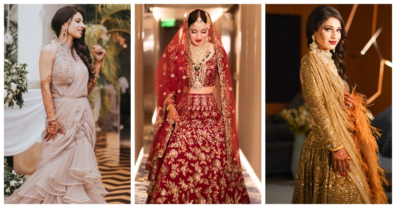 This Muslim Bride Gave us Major Outfit Inspiration with her Regal Wedding Looks