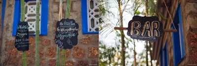 Paper cut hanging for outdoor wedding