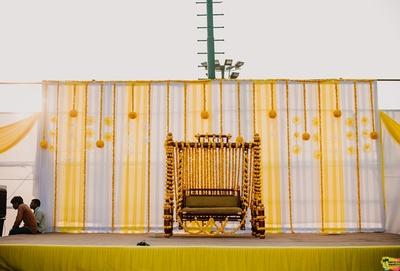 Genda phool decor for the haldi ceremony