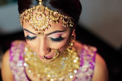 close up bridal makeup