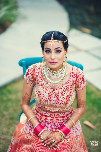 bridal portrait shot for the wedding ceremony