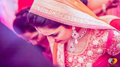 Indian veil adorned with kundan work