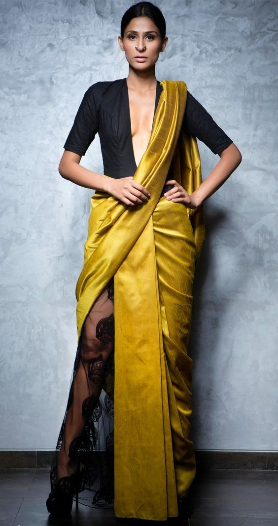 5. Pre Stitched sarees :