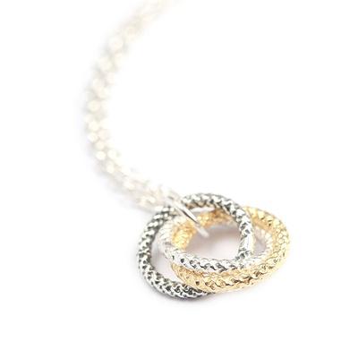 LeCalla Three Tone Love Knot Silver Bracelet