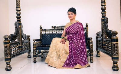 Jamevar silk and cream threadwork tissue saree