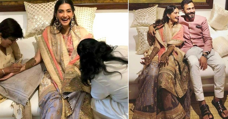 Sonam Kapoor's mehndi was a cosy, intimate & fun ceremony at her residence! #Sonamkishaadi