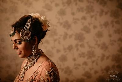 Pragya's wedding hairstyle and jewellery is absolute #BridalGoals!