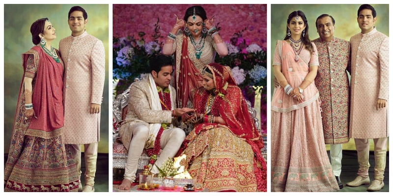 All the details & pictures from the big fat wedding of Akash Ambani & Shloka Mehta, including who wore what from the Bollywood guest-list!