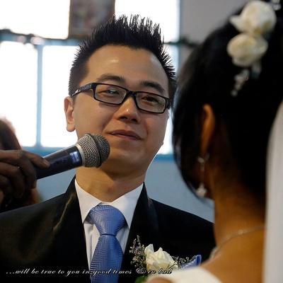 Saying the wedding vows aloud