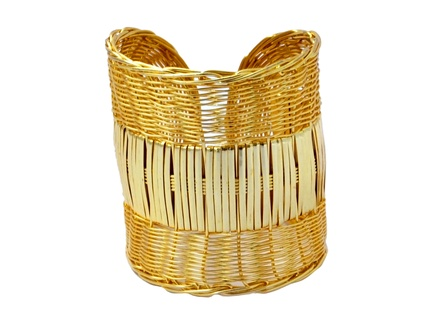 Gold polished weaved Bracelet