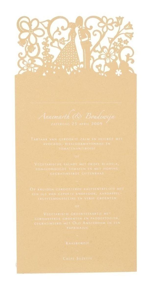 Fairytale Laser Cut Wedding Invitations