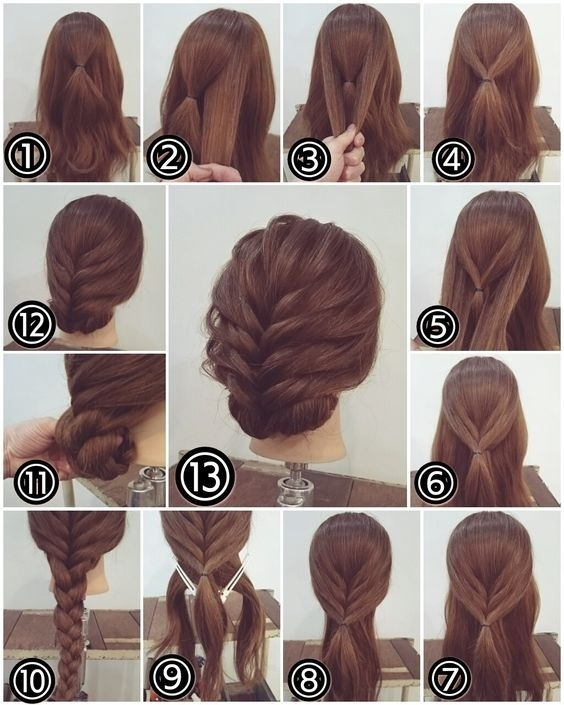 Updo With Layered Strands