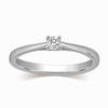 Abriana Solitaire Engagement Platinum Ring image
