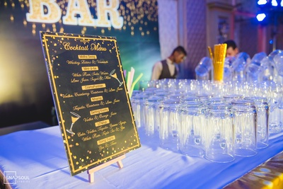 For the Sangeet, they had personalised cocktails on the menu.