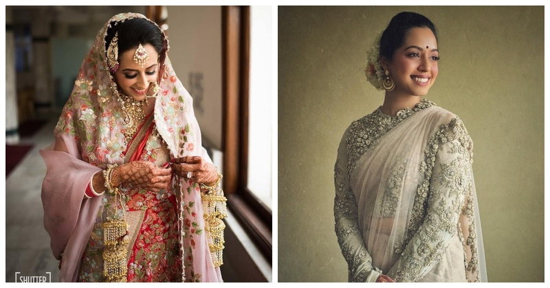 10 Bridal sarees which are synonymous with grace and elegance (sans the red ones)!