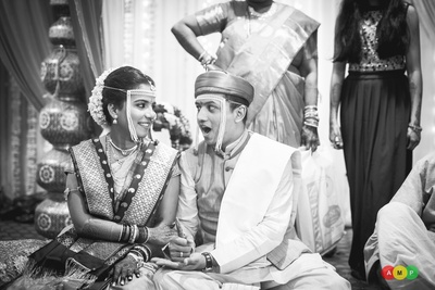 Monochrome wedding photos aptly shot by Anupam Maurya Photography