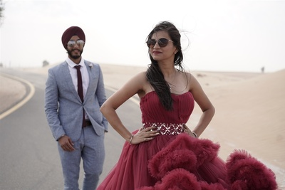 Elegant pre wedding at Dubai