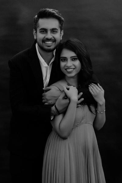 The couple strike an adorable pose for their pre-wedding shoot!