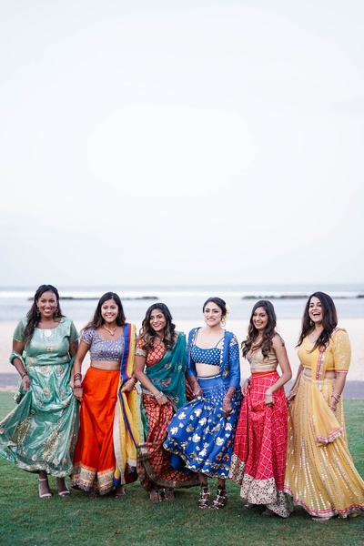 A super-cute click of the bride with her bridesmaids.
