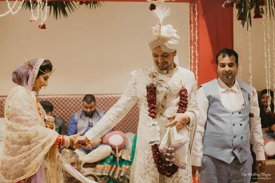 Prashant and Mansi completing the pheras