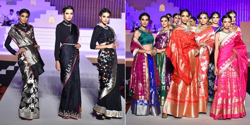 Designers Bring their A-Game with the Weaves Of Banaras Fashion Show at Make In India