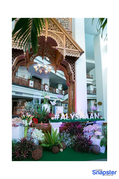 Pinterest worthy decor for the mehendi ceremony held in Pattaya, Thailand. #ALYSHAAN