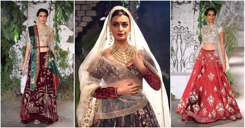 Anju Modi's Bridal Collection Has Dia Mirza Looking Like Rajasthani Royalty - ICW 2017