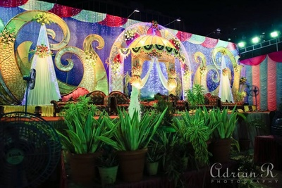 Colorful unique decor for wedding functions