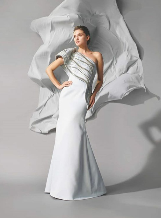 4. The classic Gaurav Gupta gown in white