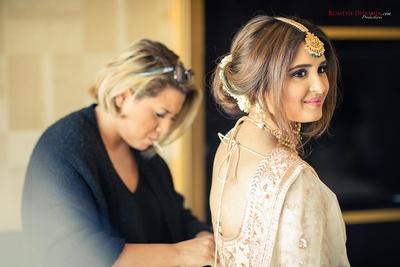 Bride getting ready for the wedding function at Della Resorts, Lonavala