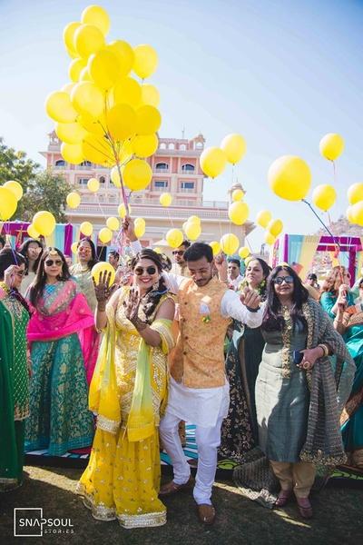 The theme for the Mehendi ceremony was 'Punjabi Mela'.