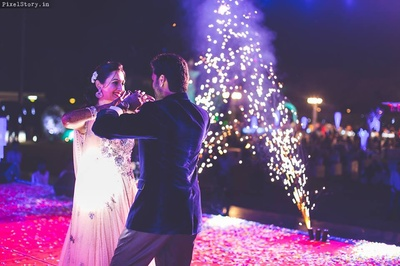 Bride and Groom performing on their Sangeet Ceremony.