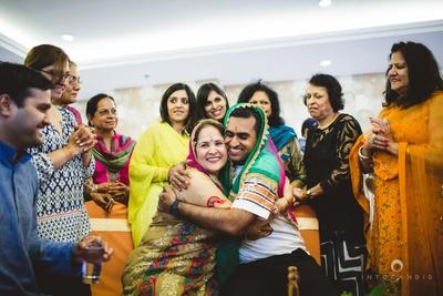 Haldi ceremony at groom's side.