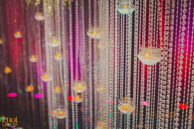LED lights , crystal strings and clustered