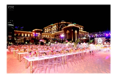 Table decor and seating at the Emirates Palace, Abu Dhabi