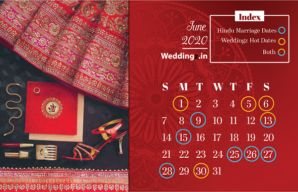 Marriage dates in June 2020