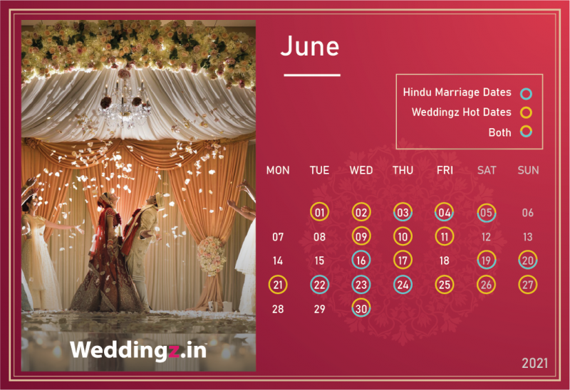 Marriage Dates in June 2021