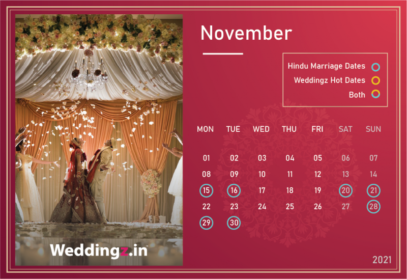 Marriage Dates in November 2021