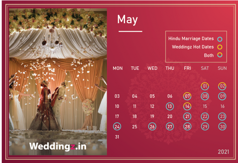 Marriage Dates in May 2021