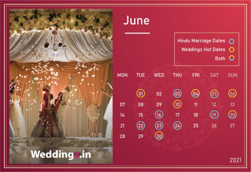 Marriage Dates in June 2021