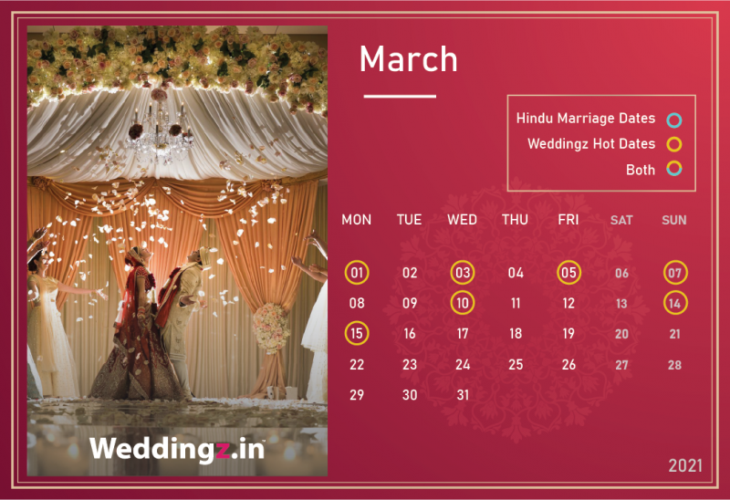 Marriage Dates in March 2021