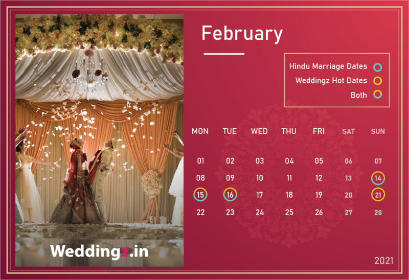 Marriage Dates in February 2021
