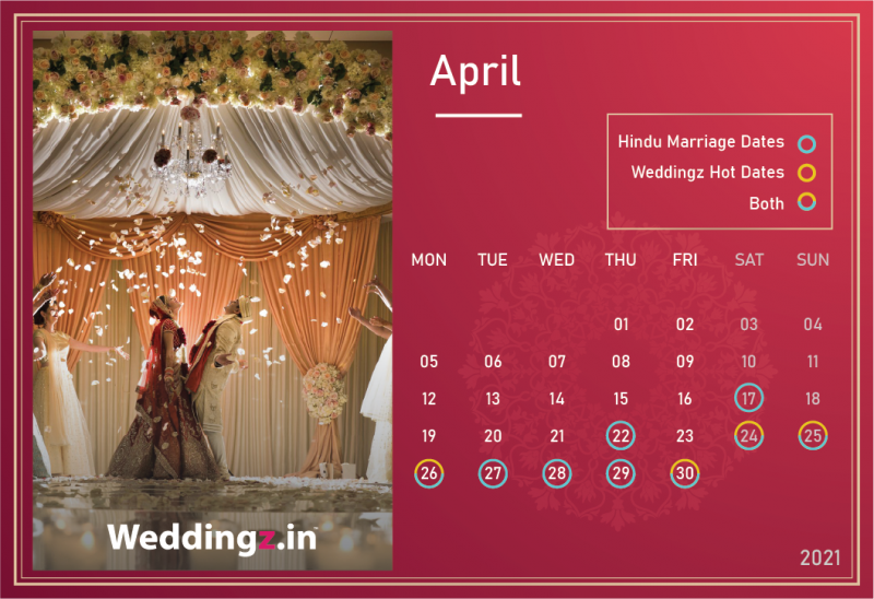 Marriage Dates in April 2021