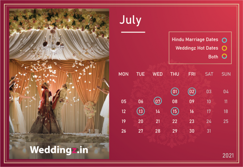 Marriage Dates in July 2021